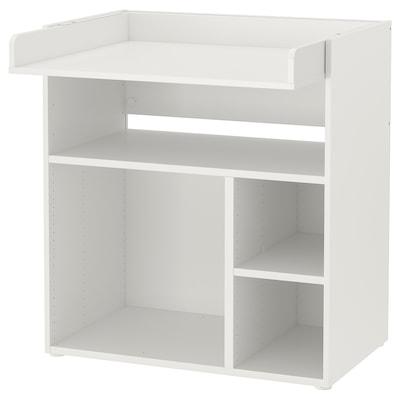 SMÅSTAD Puslebord/skrivebord, hvid