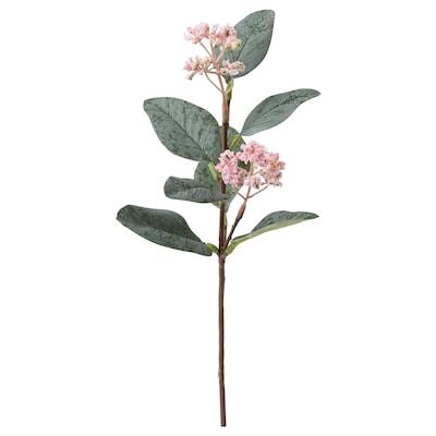SMYCKA Kunstig blomst, eukalyptus/pink, 30 cm