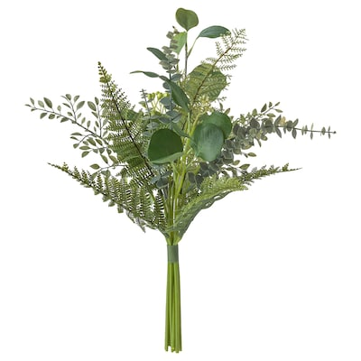SMYCKA Kunstig buket, indendørs/udendørs grøn, 50 cm