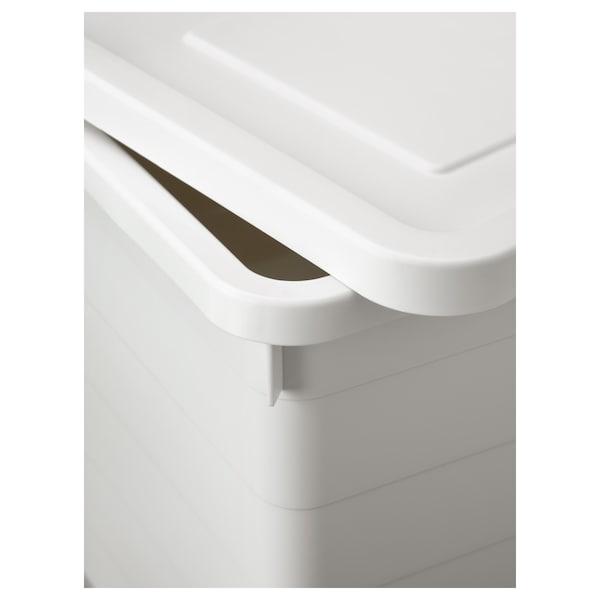 SOCKERBIT Boks med låg, hvid, 38x51x30 cm
