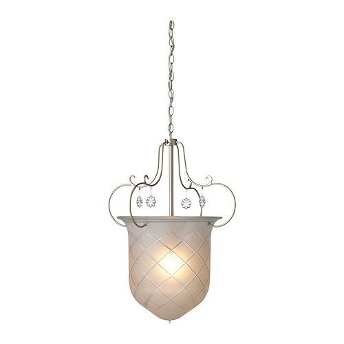 SÖDER Loftlampe , glas, blomster Diameter: 30 cm Højde: 180 cm Kabellængde: 1.6 m Kædelængde: 0.4 m