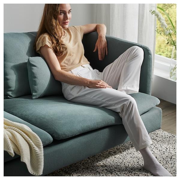 SÖDERHAMN 3-pers. sofa, med åben ende/Finnsta turkis
