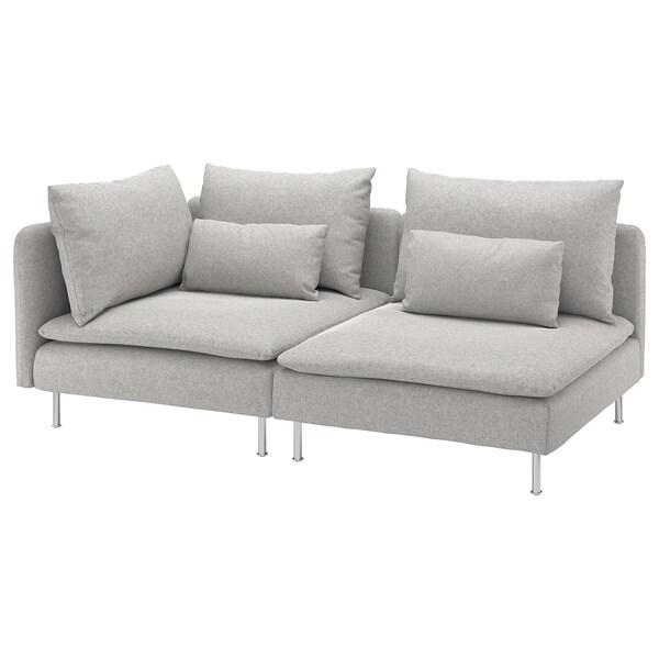 SÖDERHAMN 3-pers. sofa, med åben ende/Tallmyra hvid/sort