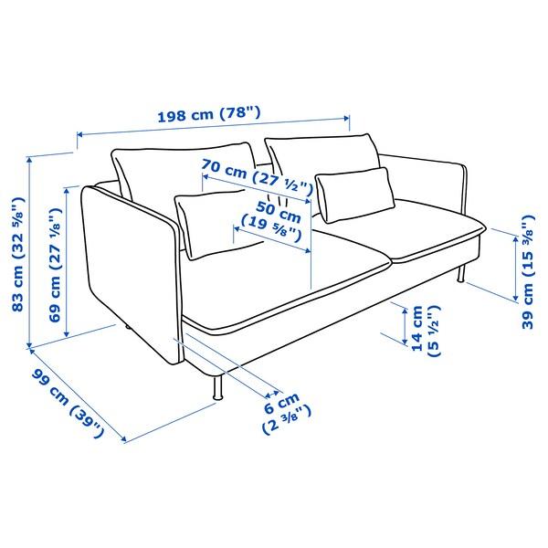 SÖDERHAMN 3-pers. sofa, Viarp beige/brun