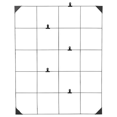 SÖSDALA Opslagstavle med clips, sort, 60x75 cm
