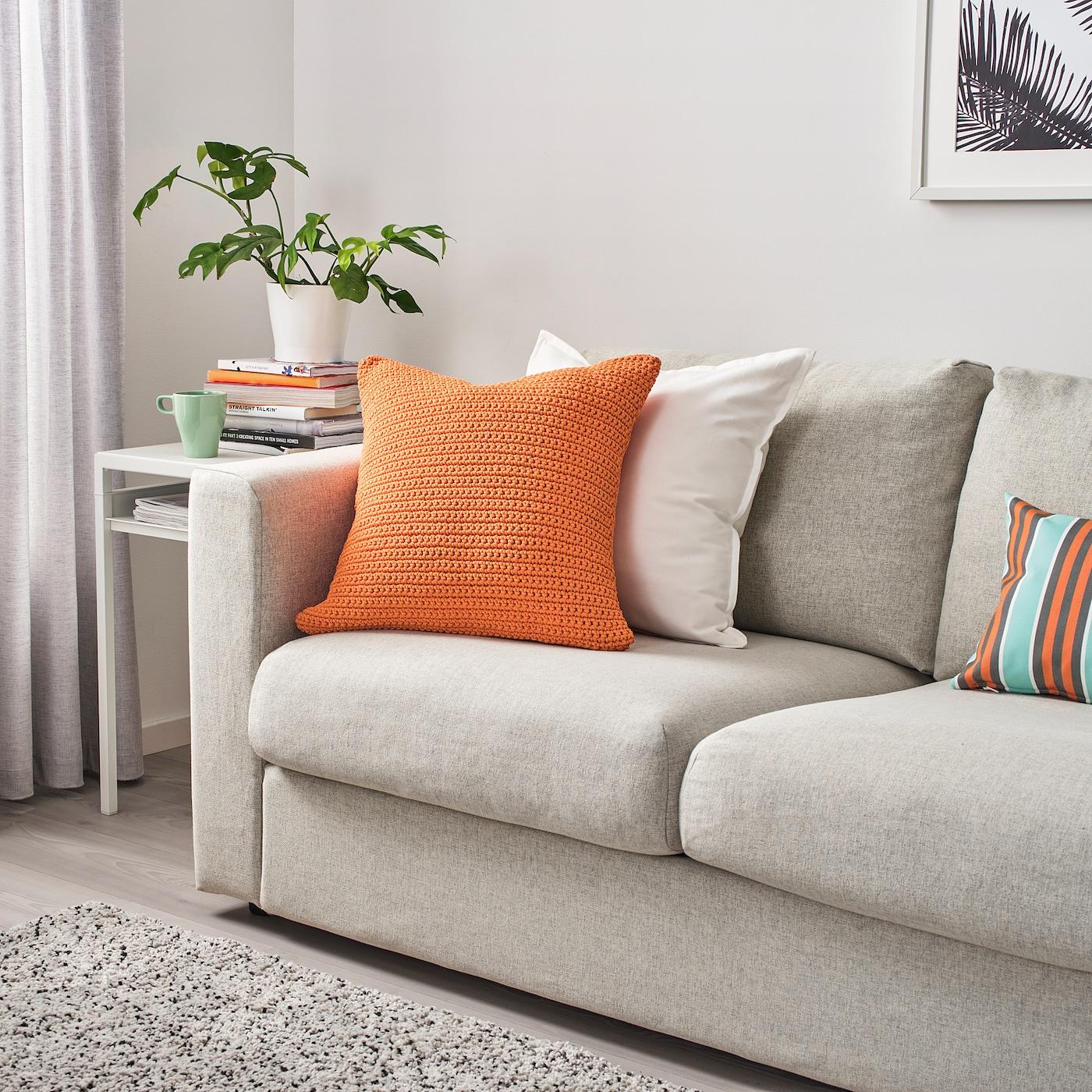 SÖTHOLMEN Pudebetræk, indendørs/udendørs, orange, 50x50 cm