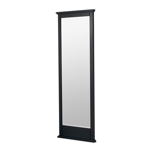 sort sekskantet spejl