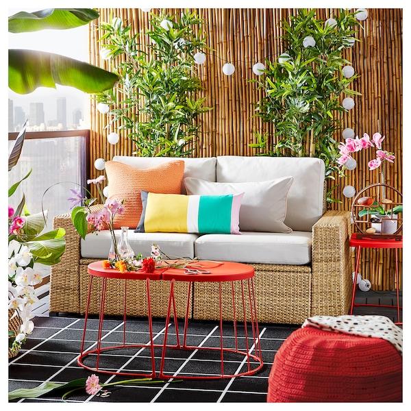 SOLLERÖN 2-pers. modulopb. sofa, ude brun/Frösön/Duvholmen beige 161 cm 82 cm 88 cm 125 cm 48 cm 44 cm