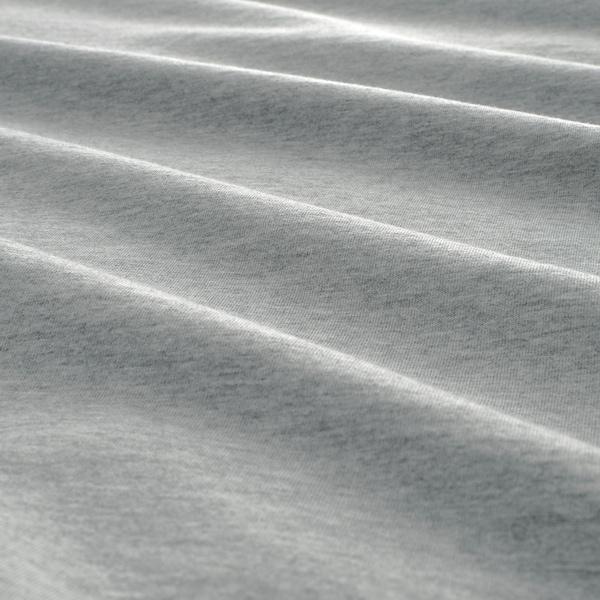 SPJUTVIAL Dynebetræk og pudebetræk, lysegrå/meleret, 140x200/60x70 cm