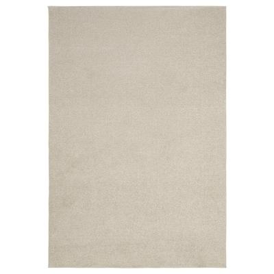 SPORUP Tæppe, kort luv, lys beige, 133x195 cm