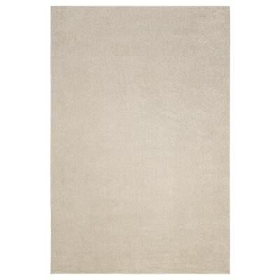 SPORUP Tæppe, kort luv, lys beige, 200x300 cm