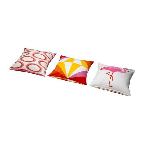 SPRINGKORN Pudebetræk IKEA Kan vendes. Forskellige mønstre på hver side. Lynlås gør betrækket nemt at tage af og vaske.