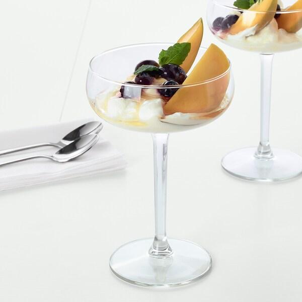 STORHET Champagneskål, klart glas, 30 cl