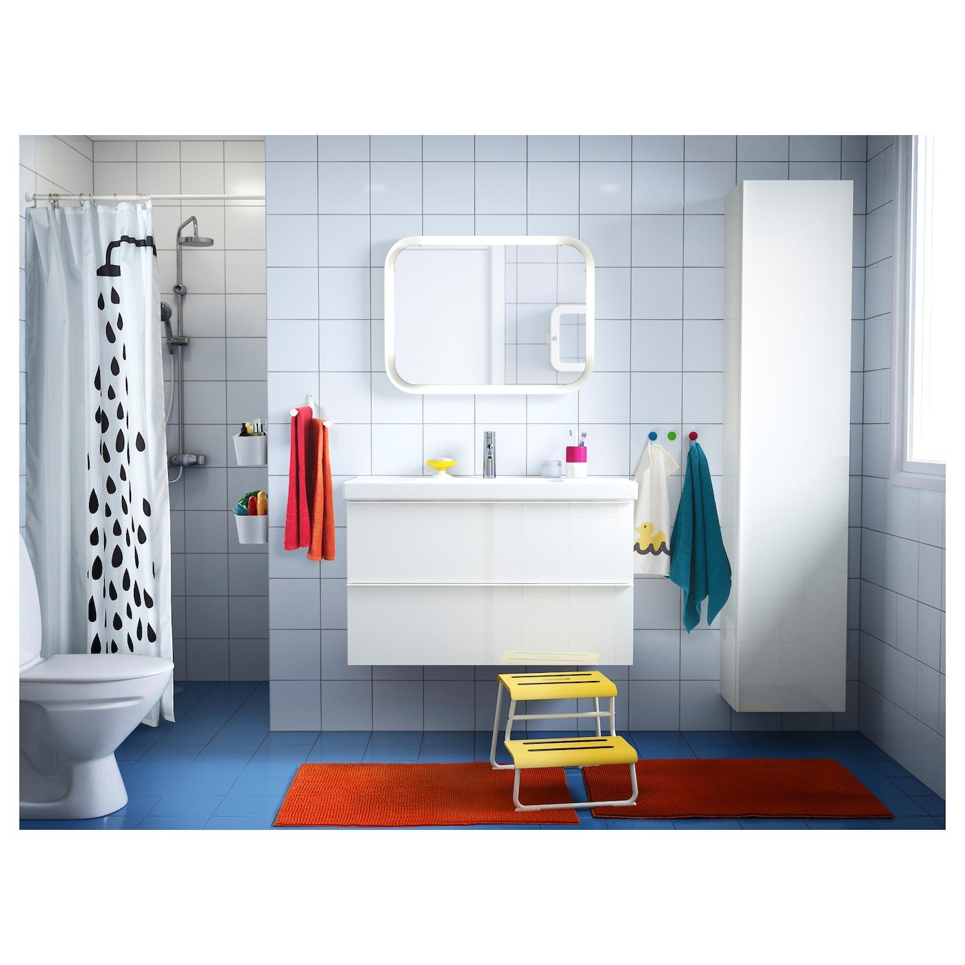 Picture of: Storjorm Spejl Med Integreret Belysning Hvid 80×60 Cm Ikea