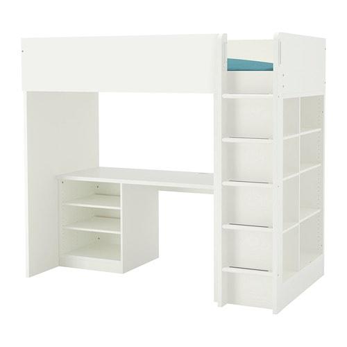 ikea høj seng STUVA Loftseng med 2 hylder/3 hylder   IKEA ikea høj seng