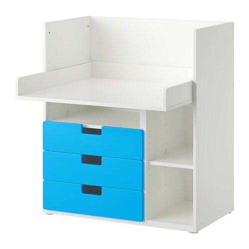 Stuva skrivebord med 3 skuffer hvid bl ikea - Cassettiera cameretta ikea ...
