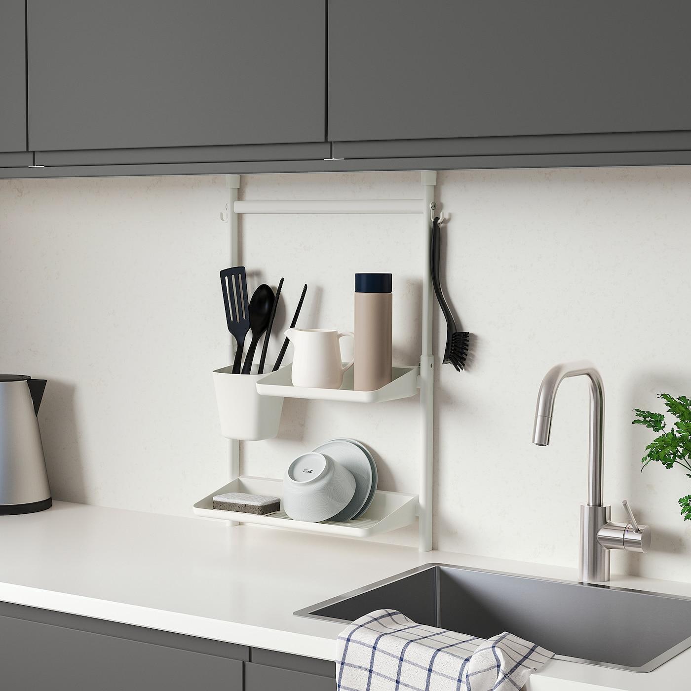 Sunnersta Kokkenorganisering Saet Uden At Bore Hylde Opvaskestativ Beholder Ikea