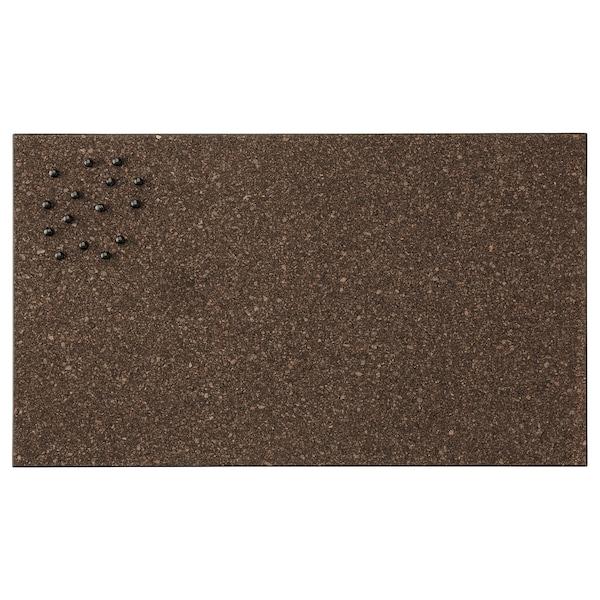 SVENSÅS Opslagstavle med nåle, kork mørkebrun, 35x60 cm