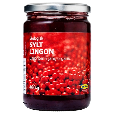 SYLT LINGON Tyttebærsyltetøj, økologisk, 400 g