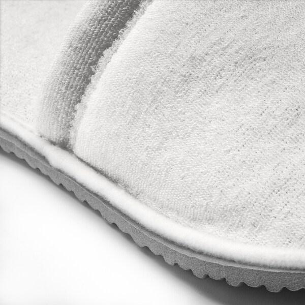 TÅSJÖN Tøfler, hvid, L/XL