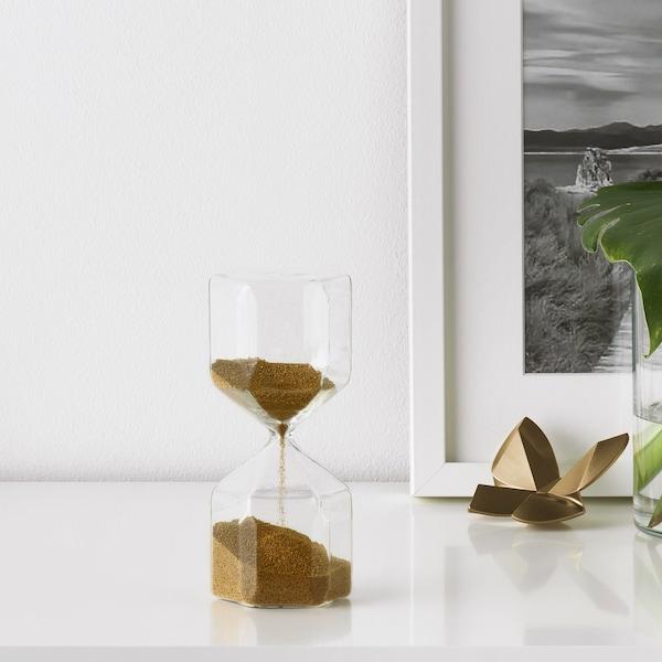 TILLSYN Dekorativt timeglas, klart glas, 16 cm