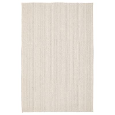 TIPHEDE tæppe, fladvævet natur/råhvid 180 cm 120 cm 2 mm 2.16 m² 700 g/m²