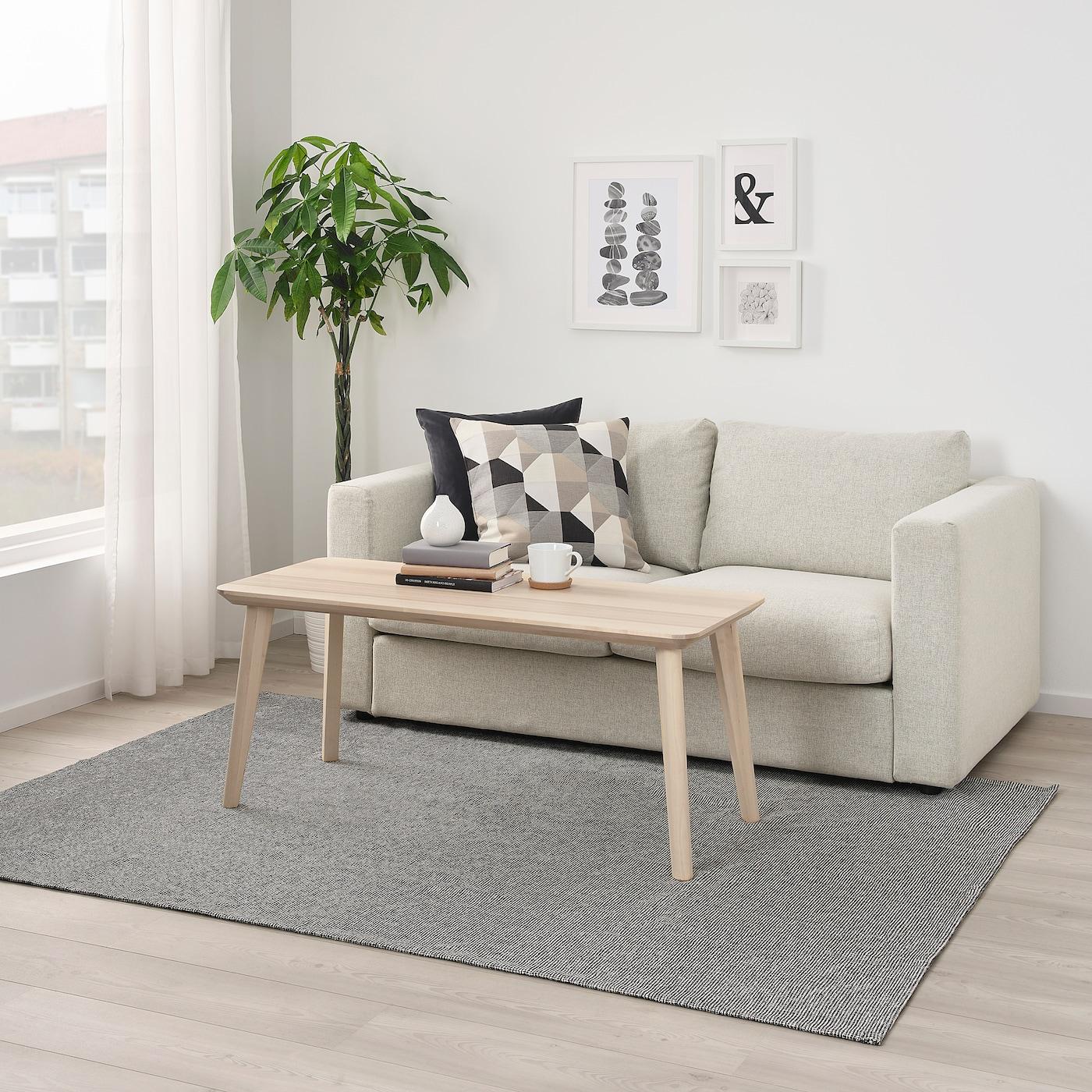Picture of: Tiphede Taeppe Fladvaevet Gra Hvid 155×220 Cm Ikea