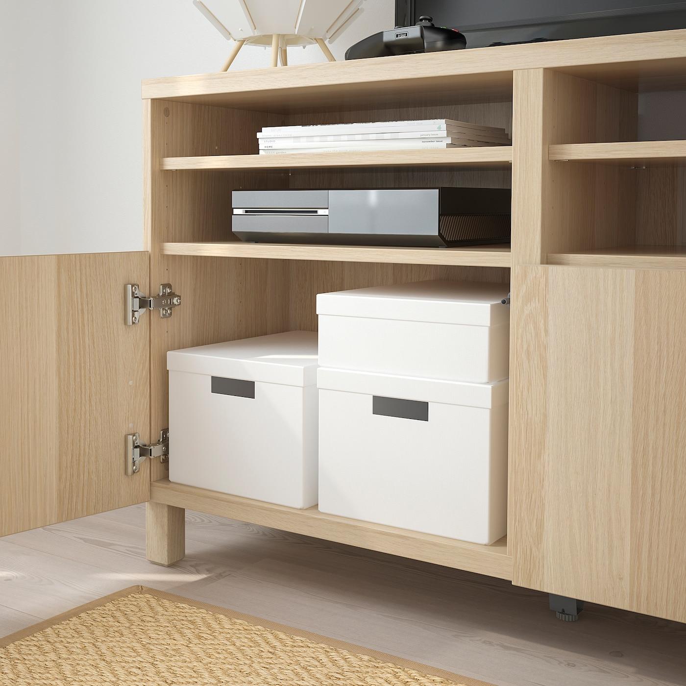 Picture of: Tjena Kasse Med Lag Hvid 25x35x10 Cm Ikea