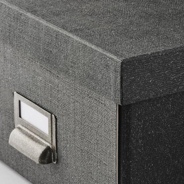 TJOG Kasse med låg, mørkegrå, 25x36x15 cm