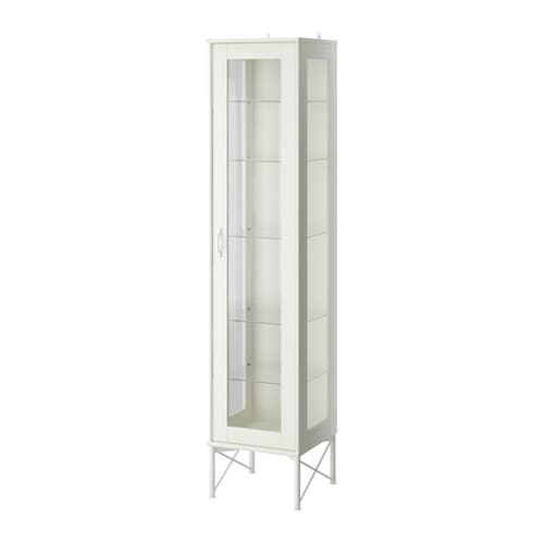 TOCKARP H?jskab med vitrinel?ge - hvid - IKEA