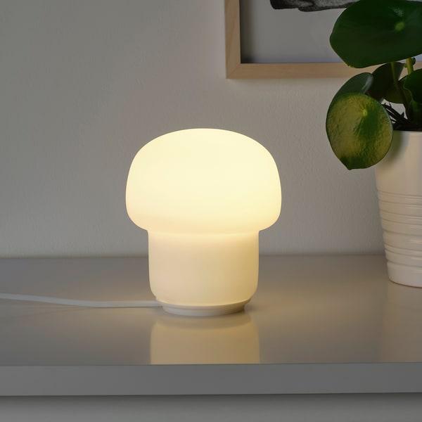 TOKABO Bordlampe, glas opalhvid