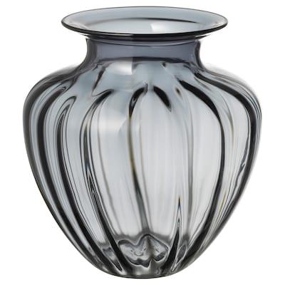 TONSÄTTA Vase, grå, 27 cm