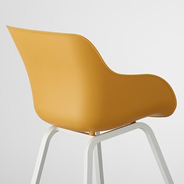 TORVID Stol, indendørs/udendørs gul/aluminium hvid