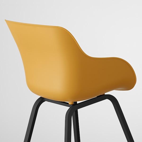 TORVID Stol, indendørs/udendørs gul/aluminium sort