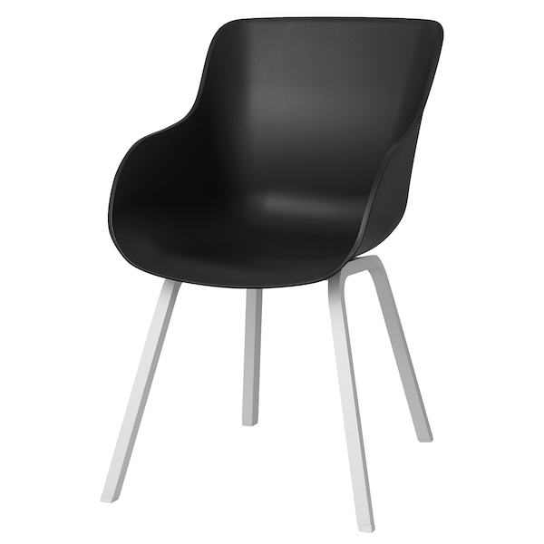 TORVID Stol, indendørs/udendørs sort/aluminium hvid