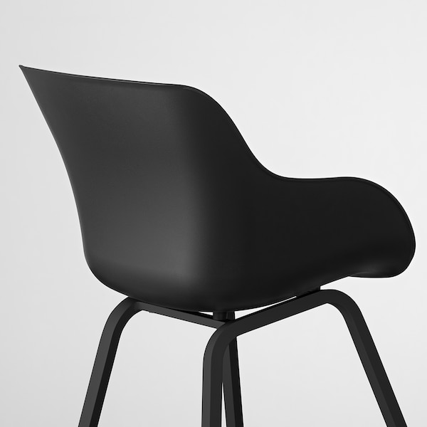 TORVID Stol, indendørs/udendørs sort/aluminium sort