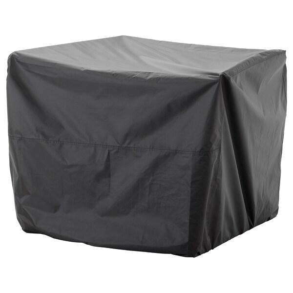 TOSTERÖ Overtræk til havemøbler, sofa/sort, 109x85 cm