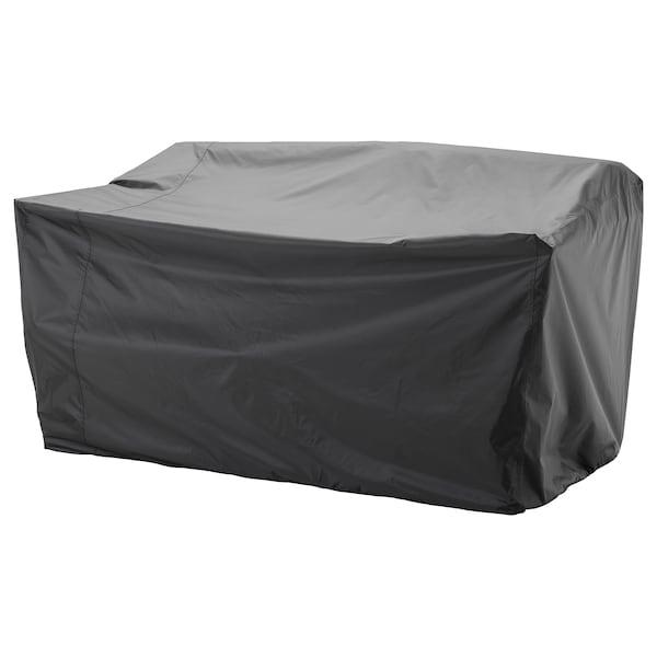 TOSTERÖ Overtræk til havemøbler, sofa/sort, 170x100 cm