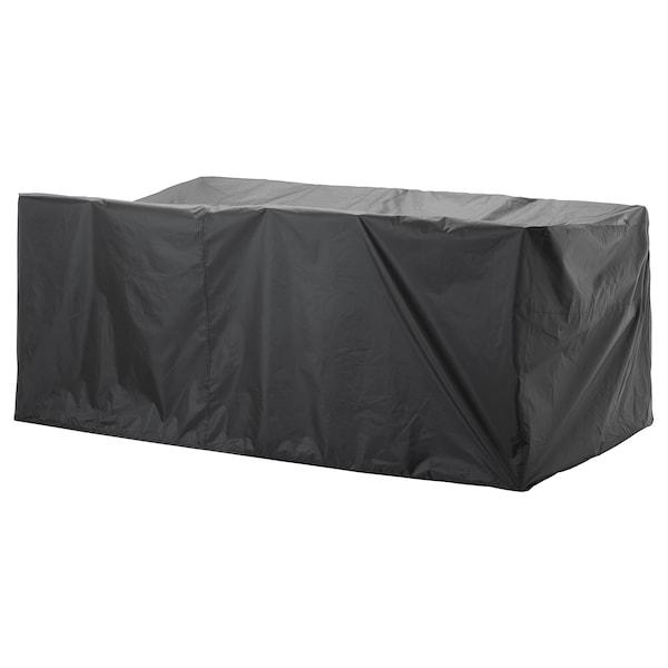TOSTERÖ Overtræk til havemøbler, spisebordssæt/sort, 260x148 cm