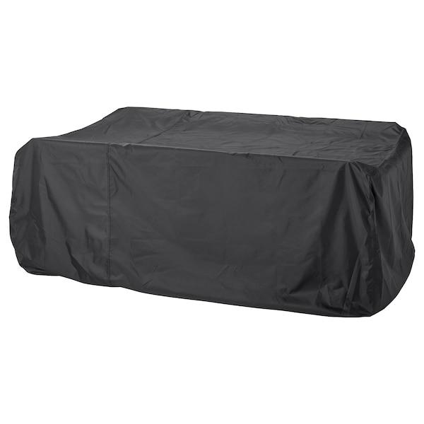 TOSTERÖ Overtræk til møbelsæt, spisebordssæt/sort, 215x135 cm