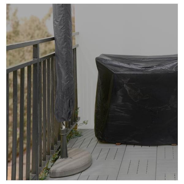 TOSTERÖ Overtræk til parasol, sort, 160 cm