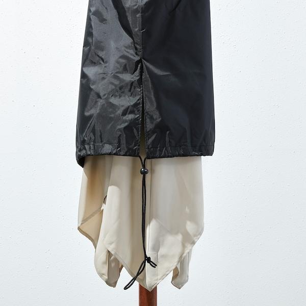 TOSTERÖ Overtræk til parasol, sort, 220 cm