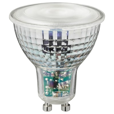 TRÅDFRI LED-pære GU10 345 lumen, trådløs, kan dæmpes farvet/hvidt spektrum