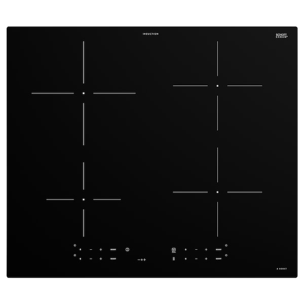 TREVLIG Induktionskogeplade, IKEA 300 sort, 59 cm