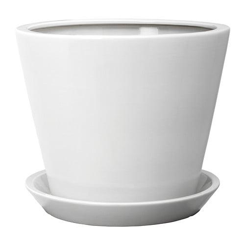 TROSSÖ Urtepotte med underskål - IKEA