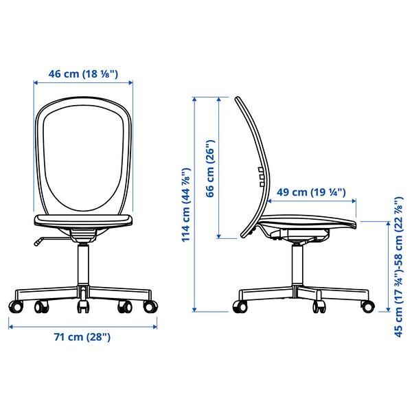 TROTTEN/FLINTAN / EKENABBEN Skrivebords- og opbevaringskombina, og drejestol beige/hvid