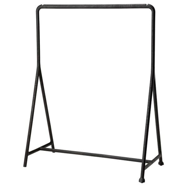 TURBO Garderobestativ, inde/ude, sort, 117x59 cm