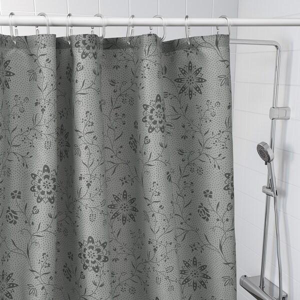 TYCKELN Badeforhæng, grå/antracit, 180x200 cm