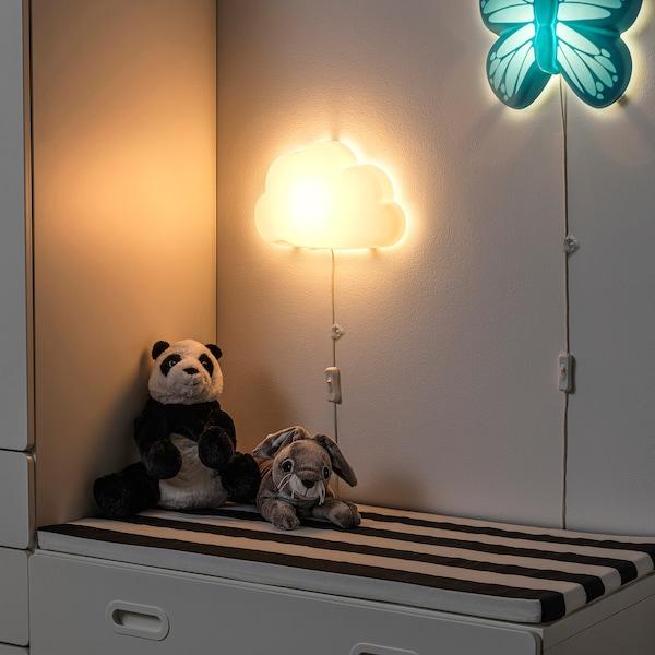 UPPLYST LED-væglampe, sky hvid