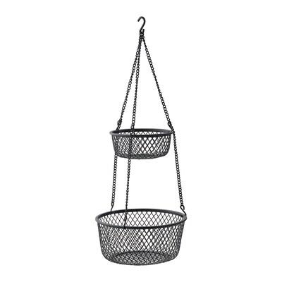 VADHOLMA Hængeopbevaring, sort/net, 25x63 cm